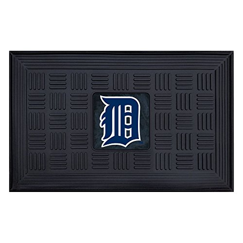 Detroit Tigers Floor Rug (FANMATS MLB Detroit Tigers Vinyl Door Mat)