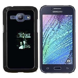 KLONGSHOP // Cubierta de piel con cierre a presión Shell trasero duro de goma Protección Caso - Ciencia Moderna - Samsung Galaxy J1 J100 //