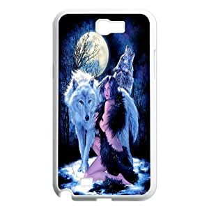 High Quality Phone Back Case Pattern Design 18Wolf Pattern- For Samsung Galaxy Note 2 Case