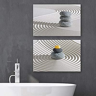 of Zen Garden Sand Spa Set x 2 Panels, Crafted to Perfection, Lovely Composition