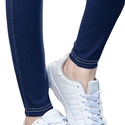 Highdas Embarazo Slim Denims Skinny Maternidad Jeans para Primavera y Otoño Azul oscuro