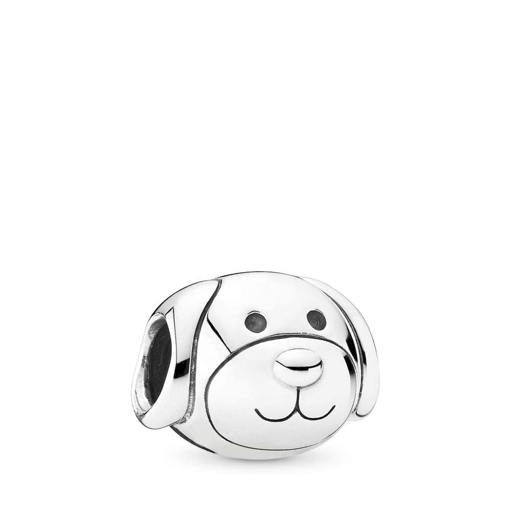 PANDORA Devoted Dog Charm, Sterling Silver, One Size by PANDORA