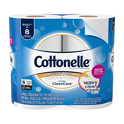 Cottonelle Double Roll, 12/4 Pack/ 170 Sheet, 8.76 Pound