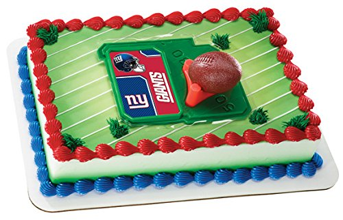 NFL New York Giants Licensed Football & Tee Cake (New York Giants Cake)