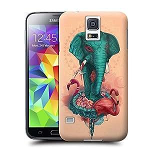 Hard Plastic Samsung Galaxy S5 Case, Fate Inn-090.Strange Elephant (1)-Samsung Galaxy S5 case