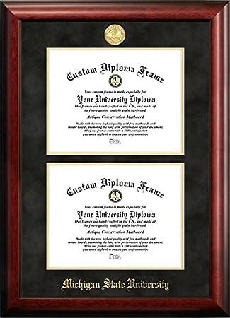 michigan state university double degree diploma frame 85 x 11 - Michigan State Diploma Frame