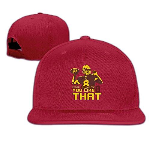 LINNA Custom Unisex-Adult Washington #8 You Like That Flat Billed Hiphop Cap Hat Red