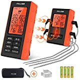 Meat Thermometer 300 Feet Wireless Remote Digital BBQ Cooking Food Thermometer with 4l
