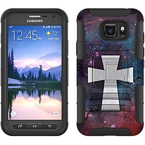 Samsung Galaxy S7 Active Armor Hybrid Case Maltese Cross on Nebula Glaxy 2 Piece Case with Holster for Samsung Sales