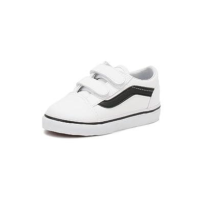 e5b045c8e984 Vans Old Skool V (classic Tumble) -Fall 2017- True White black  Amazon.co.uk   Shoes   Bags