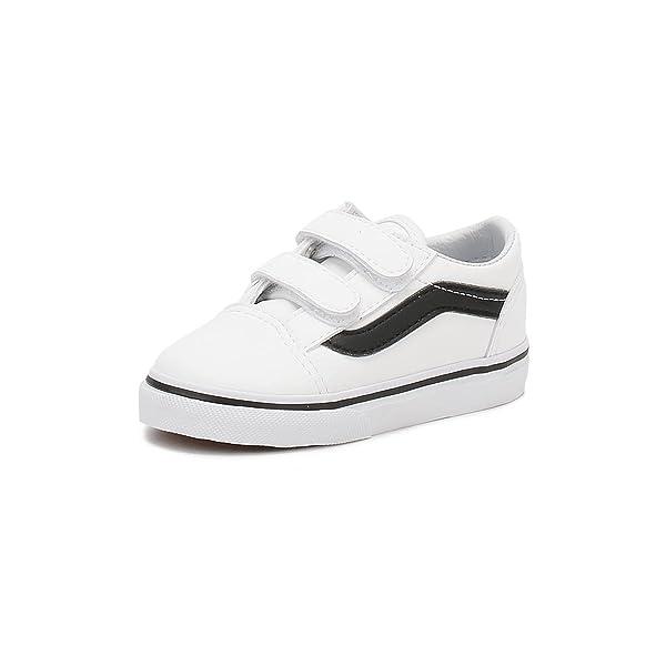 73b5788798 Vans Old Skool V Toddler Size Classic Tumble True White/Black ...
