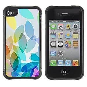Suave TPU GEL Carcasa Funda Silicona Blando Estuche Caso de protección (para) Apple Iphone 4 / 4S / CECELL Phone case / / Purple Teal Baby Blue Fall /