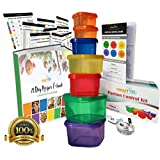 7 Piece Portion Control Containers Kit (GUIDE + FREE 21 DAY PDF PLANNER + RECIPE E-BOOK + BODY TAPE MEASURE included) by smartYOU - Leak proof, Perfect Size, Color-coded