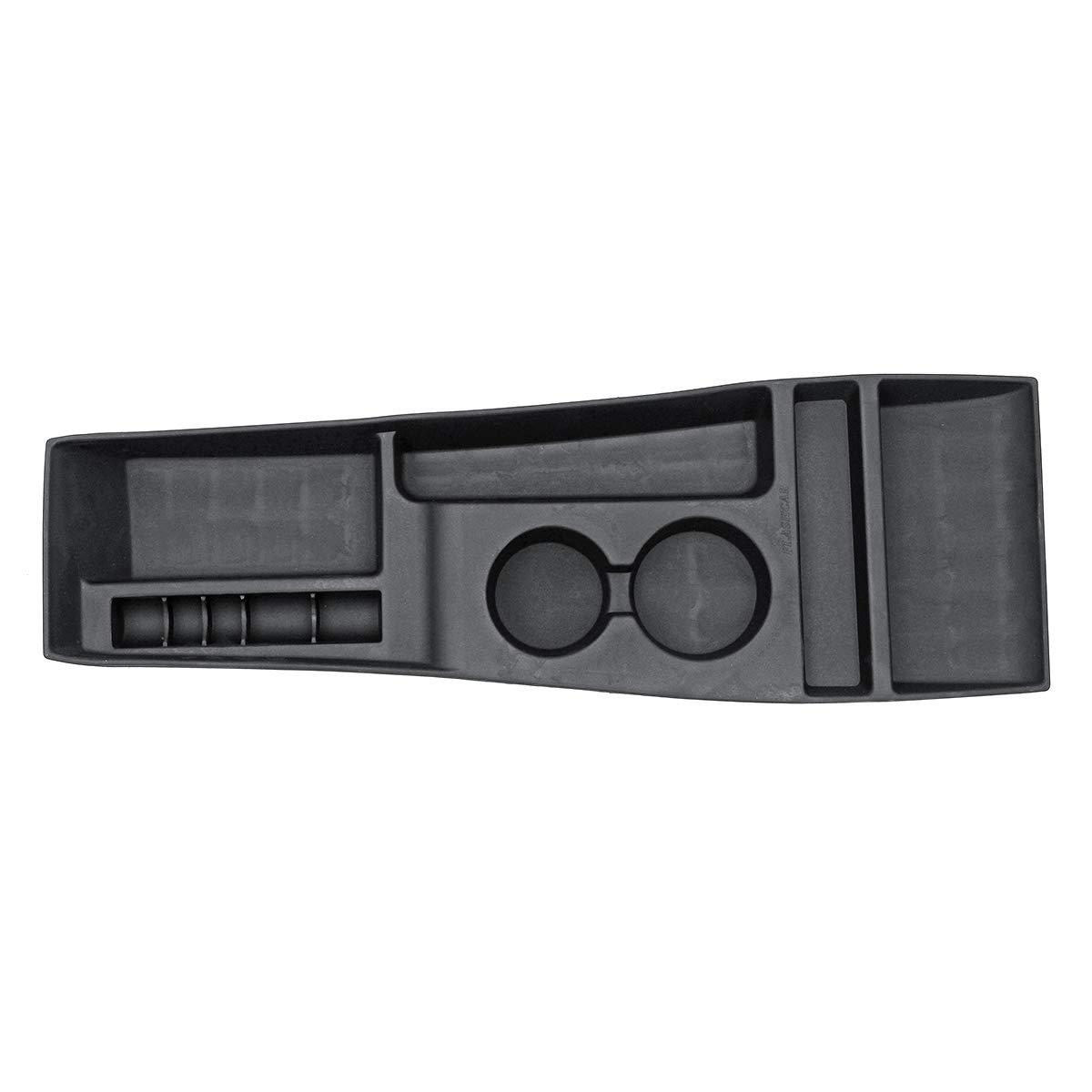 AAlamor Caja De Almacenamiento De La Consola De Silicona Black Car Center para Tesla Model X//S 2012-2017