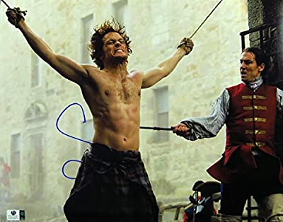 Sam Heughan Signed Autographed 11X14 Photo Outlander Getting Whipped GV834974