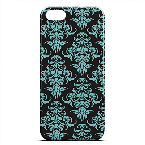 (ZHIQCH iPhone 5/5s/SE case Damask Vintage Chandelier Wallpaper Floral Pattern Slim Fit Hard Plastic Cover Cases Full Protective Anti-Scratch Resistant Compatible iPhone 5/5s/SE)