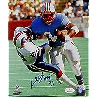 $55 » Earl Campbell Autographed Houston Oilers 8x10 PF Vs Bills w/HOF- JSA W Auth Blue