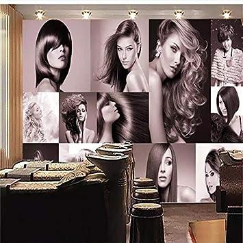 Xzcwwh Custom Wallpaper Hd Fashion Haircut Hair Salon Background Wall Painting Poster Wall Sticker Door Sticker 400cm W 280cm H Amazon Com
