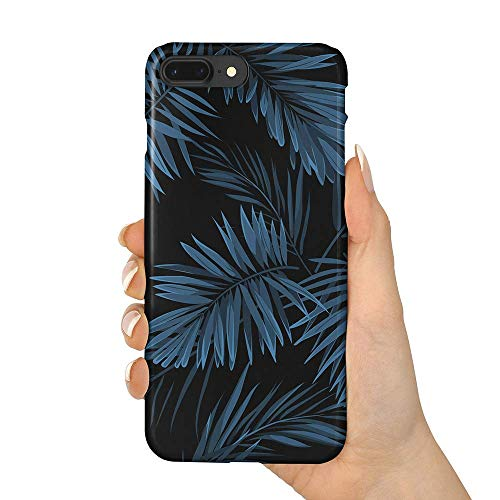 (uCOLOR Case Compatible iPhone 8 Plus/7 Plus 6s Plus/6 Plus Indigo Tropical Leaf Slim Soft TPU Silicone Shockproof Cover Compatible iPhone 8 Plus/7 Plus/6S Plus/6 Plus(5.5