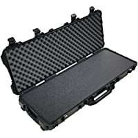 Pelican 1720 Case, Black, with Closed Cell Military Grade Polyethylene Foam, with Convolute Foam in the Lid