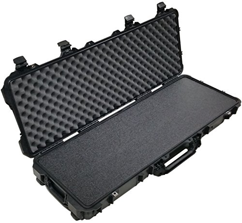 Pelican 1720 Case, Black, with Case Club's Closed Cell Military Grade Polyethylene Foam & Convolute Foam in The Lid
