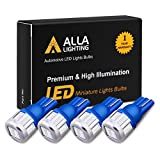 Alla Lighting 4x 194 LED Bulb Super Bright 175 168 2825 W5W T10 Wedge 5630 SMD LED Replacement Bulbs for Car Side Marker Interior Map Dome Trunk Cargo Parking Step Courtesy Lights, 10000K Blue