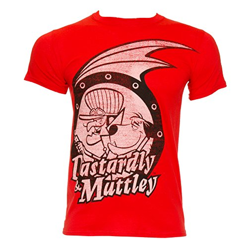 Wacky Races Womens Dastardly & Muttley T Shirt Red