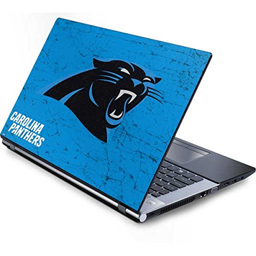 Skinit Carolina Panthers Distressed Alternate Generic 15.4in Laptop Skin - Officially Licensed NFL Laptop Decal - Ultra Thin, Lightweight Vinyl Decal Protection