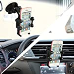 2-in-1 Mobile Phone Car Mount, Asscom...