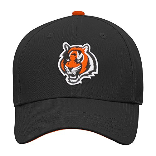 Outerstuff NFL NFL Cincinnati Bengals Youth Boys Basic Structured Adjustable Hat Black, Youth One Size ()