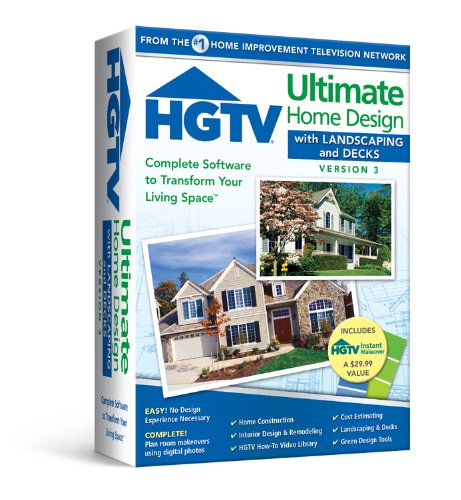 HGTV Ultimate Home Design with Landscaping & Decks 3.0 (Easy Home Design Software)