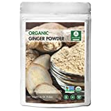 Naturevibe Botanicals Organic Ground Ginger Root Powder - 1 lb (16 Ounces) - Zingiber officinale | Raw, Gluten-Free & Non-GMO | Reduce Muscle Pain | Reduce Menstrual Pain | Lower Cholesterol Levels.