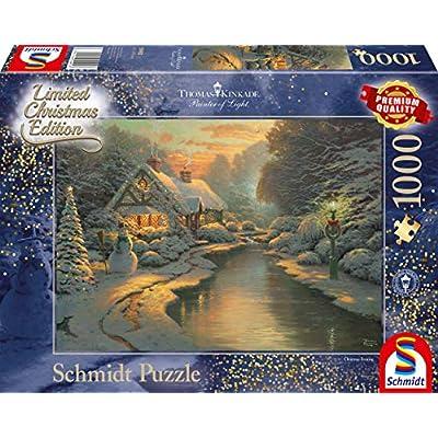 Schmidt Spiele 59492 Puzzlethomas Kinkade La Sera Di Natale Edizione Limitata 1000 Pezzi Multicolore
