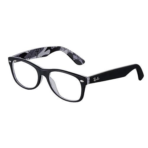 Ray-Ban 5405 5184 Monturas de gafas, Wayfarer, 52, Negro