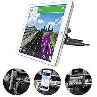 Universal Magnetic Car Mount [3 in 1], CD Slot Tablet Car Mount Compatible with 7-9 inch Tablet, CD Player Cell Phone Holder, CD Tray GPS Car Mount for Garmin Nuvi GPS