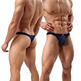 CHENGSHEN Sexy Men Thongs Breathable Hole Underwear Low Rise Pouch Jockstrap G-Strings Underpants
