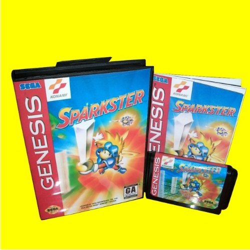 Taka Co 16 Bit Sega MD Game Sparkster - Rocket Knight Adventures 2 With Box And Manual 16bit MD Game Card For Sega Mega Drive For Genesis
