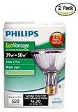 Philips 419747 EcoVantage PAR30L 50 Watt Equivalent 25 Degree Flood Light Bulb- 2pack