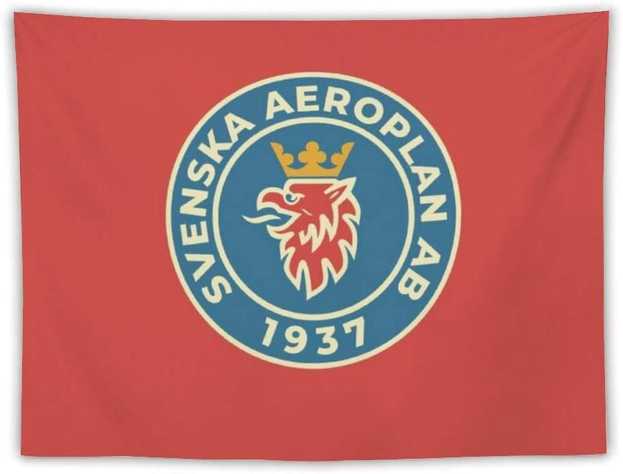 Svenska Aeroplan Ab - Saab Apron Wall Tapestry Apestry Album 3D Wall Hanging Art Home Decor Wave Tapestries