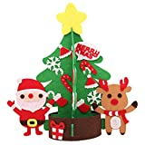 Inkach Mini Christmas Tree | DIY Non-Woven Tabletop Xmas Tree Ornaments Party Home Decoration (L)