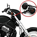 morovan 2 Pcs Motorcycle Turn Signals Bulbs Indicators Blinkers Lights ( Color: Black )