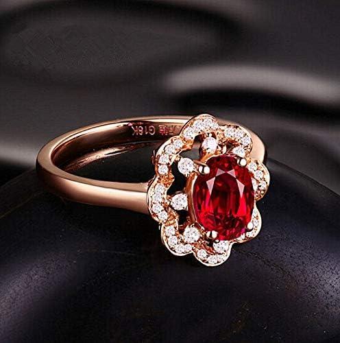 シルバーリング婚約指輪ハイエンドルビーリングローズゴールドリングジュエリー,基準第8号合衆国法典