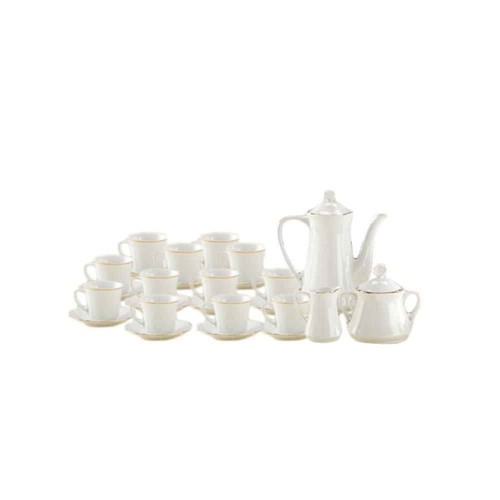 Juego de café porcelana versalles 27 piezas con filo de Oro https://amzn.to/2z7aHJl