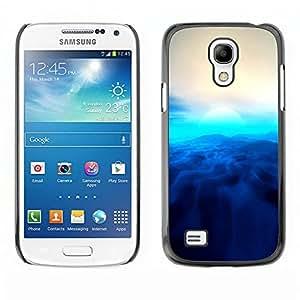 A-type Arte & diseño plástico duro Fundas Cover Cubre Hard Case Cover para Samsung Galaxy S4 Mini i9190 (Blue Sun)