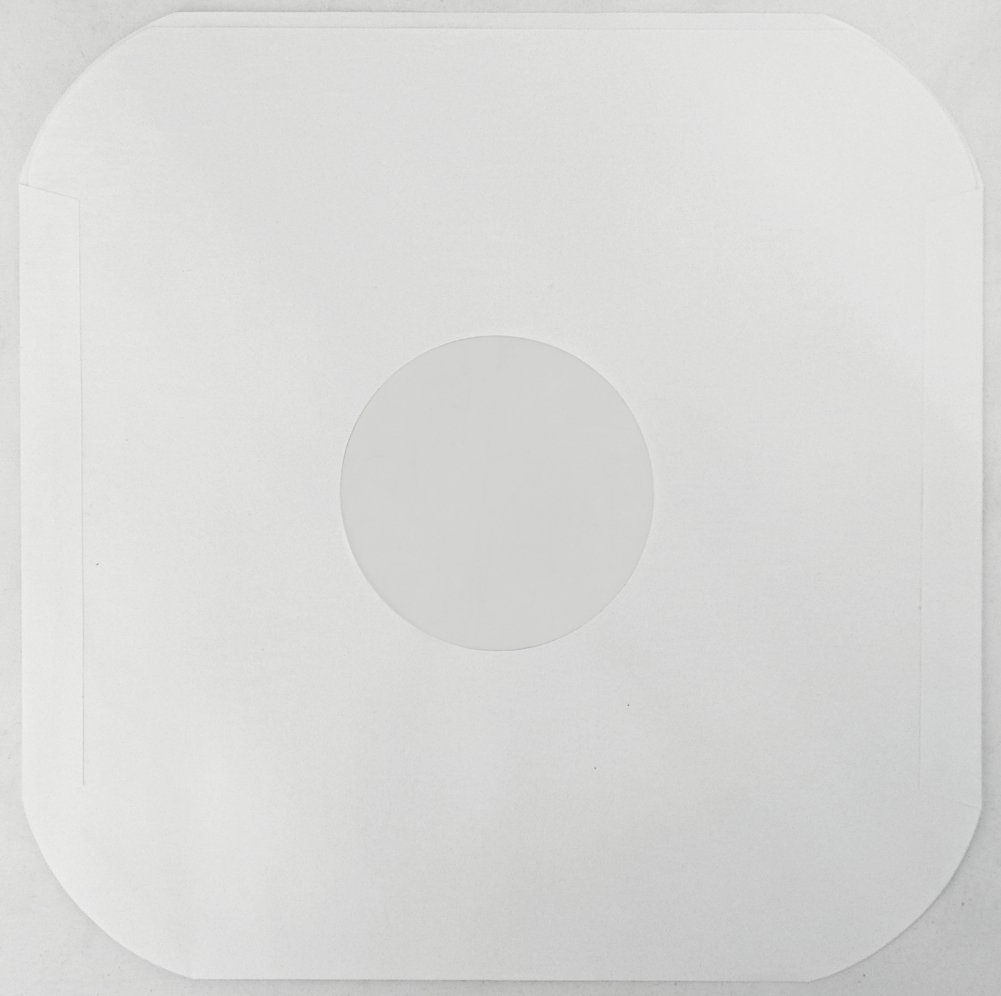 (50) White Heavyweight Paper Inner Sleeves for 12'' Records