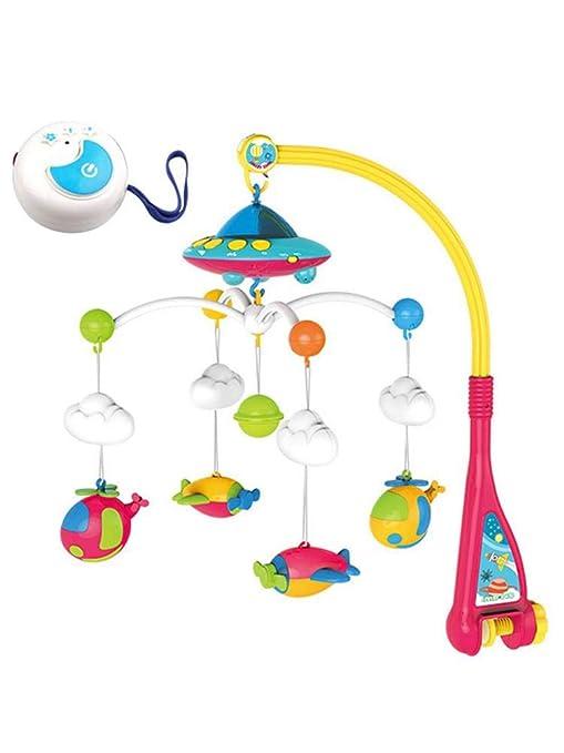 Campana Juguete Educativo,Juguete móvil de cuna musical con luces y proyección de música Cochecito Cuna Juguetes colgantes