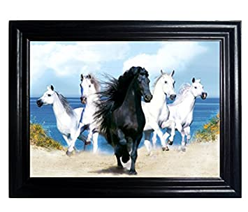 horses framed wall art lenticular technology causes the artwork to flip multiple pictures - Multiple Photos In One Frame