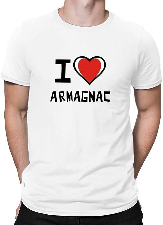 Teeburon I Love Armagnac Bicolor Heart T-Shirt