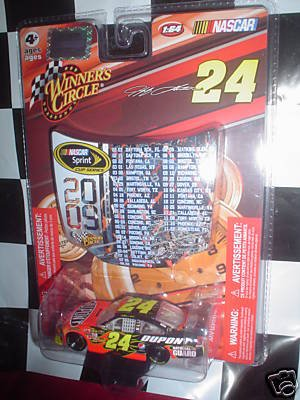 Jeff Gordon #24 New Dupont Colors Chevy Impala SS COT 1/64 Scale with 2009 NASCAR Sprint Scedule Hood Magnet Winners Circle ()