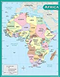 Teacher Created Resources Africa Map Chart, Multi Color (7650)